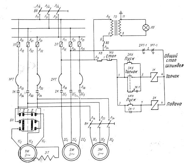6Н81 электросхема фрезерного станка.