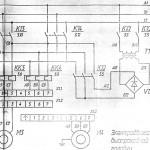 67К25ПР Электросхема на фрезерный широкоуниверсальный станок