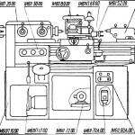 Компановка 1И611П токарно-винторезный станок