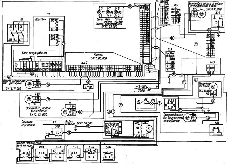 Станок 3К12 Схема