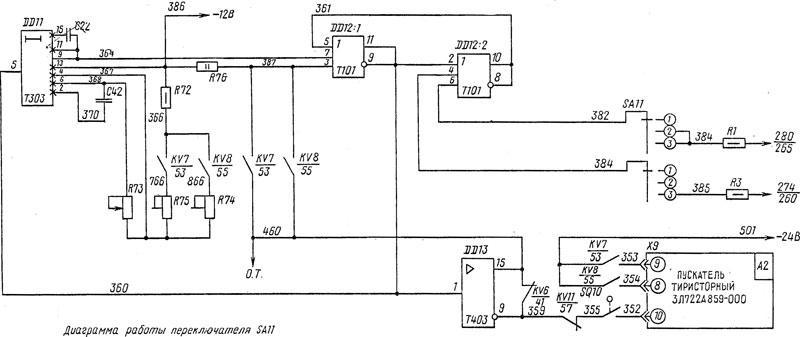 Электросхема 3Л722