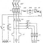 Электросхема токарно-винторезного станка 1624М