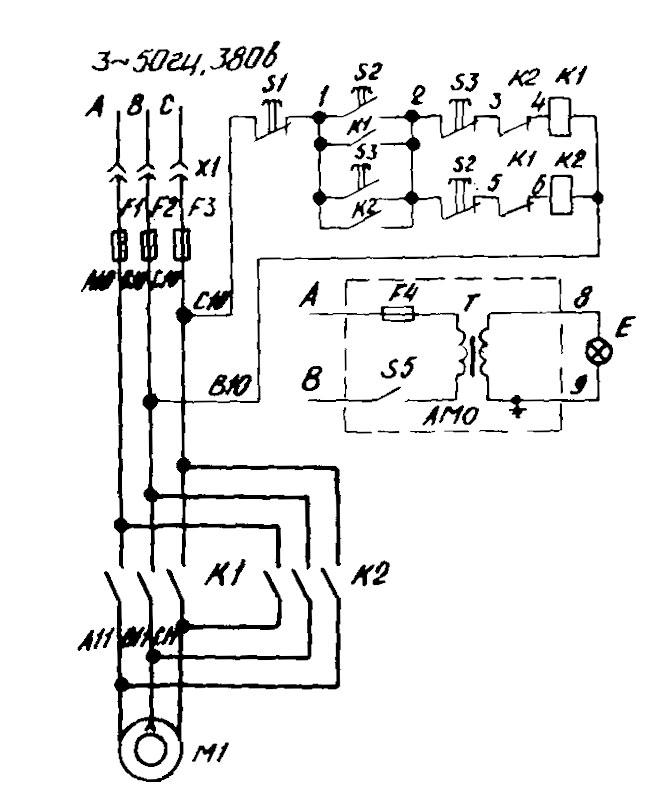 Электросхема станок вертикальный настольно-сверлильный 2М112.