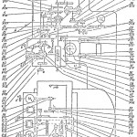 Кинематическая схема координатно-расточного станка 2Е440А