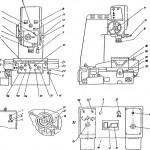 Органы управления координатно-расточного станка 2Е440А