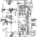 Кинематическая схема 6В75 и 6В75П универсально-фрезерные станки