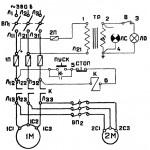 Электросхема 6В75 и 6В75П универсально-фрезерные станки