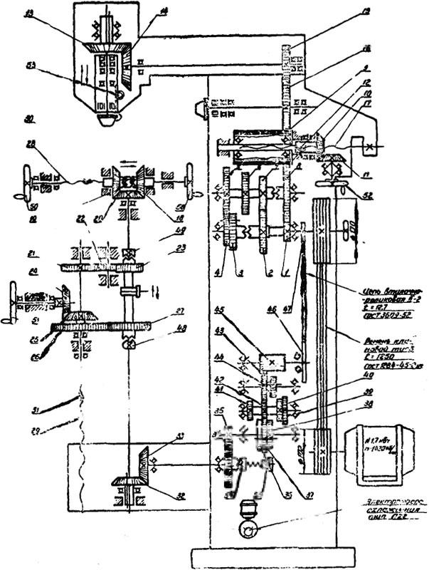Кинематическая схема 6В75 и