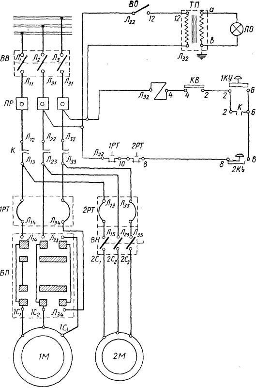 Электросхема станка 676