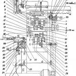 16Е16КП Кинематическая схема станка